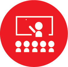 Icon for a group learning from a teacher